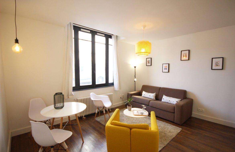 séjour d'appartement Rouen centre unappartarouen